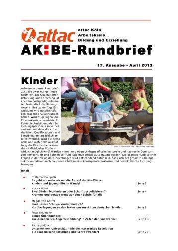 Rundbrief 17 - Arbeitskreis Bildung & Erziehung