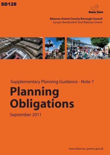 Planning Obligations - Blaenau Gwent County Borough Council