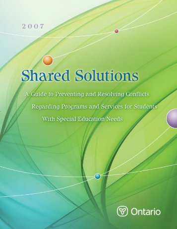 Shared Solutions: A Guide to Preventing and Resolving Conflicts ...