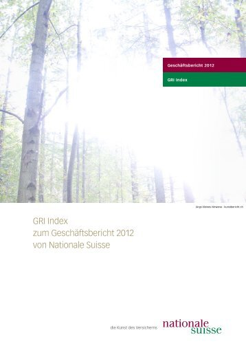 GRI (Global Reporting Initiative) Index - Nationale Suisse Group
