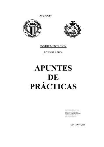 APUNTES DE PRÁCTICAS - PoliformaT - UPV