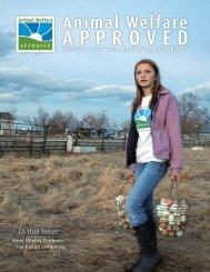 Spring 2012 Animal Welfare Approved Newsletter