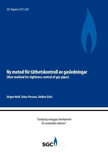 SGC Rapport 260 Ny metod för täthetskontroll av gasledningar (New ...