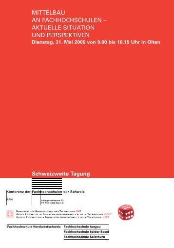 mittelbau an fachhochschulen – aktuelle situation und ... - KFH