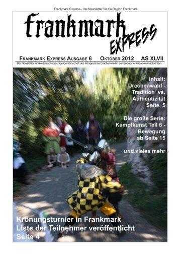 Frankmark Express Ausgabe 6, Oktober 2012 - Vielburgen