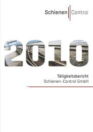 Tätigkeitsbericht Schienen-Control GmbH