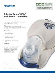C-Series Tango™ CPAP with heated humidifier - ResMed