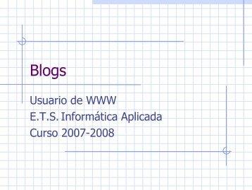 Usuario de WWW E.T.S. Informática Aplicada Curso ... - PoliformaT