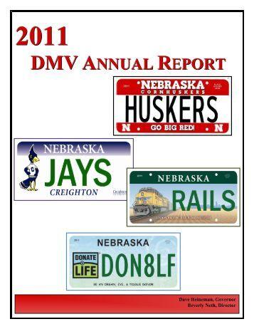 Application for specialty plates nebraska official for Dmv motor vehicle report