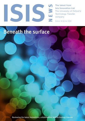 Beneath the surface - Isis Innovation