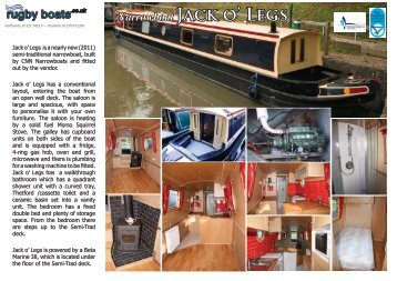 Narrowboat Jack o' Legs -  Rugby Boat Sales