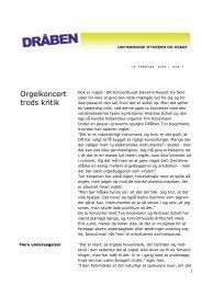 Orgelkoncert trods kritik - Seniorklubben for nuværende og tidligere ...