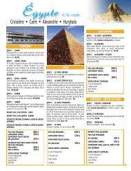 Croisière • Caire • Alexandrie • Hurghada - Voyages Cassis