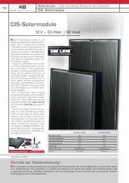 CIS-Solarmodule - Esomatic.de