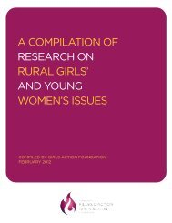 a compilation of research on rural girls' and young women's issues
