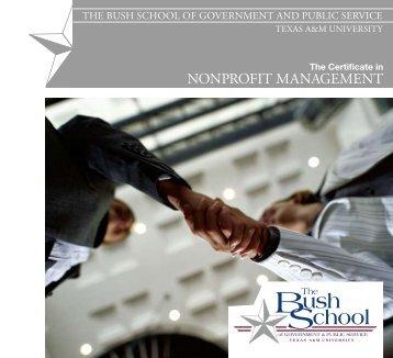 NoNprofit MaNageMeNt - Bush School of Government and Public ...