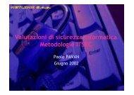 Manuale ITSEC - Paolo PAVAN