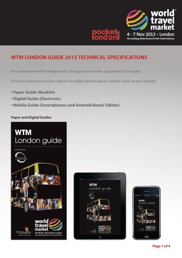 wtm london guide 2013 technical specifications