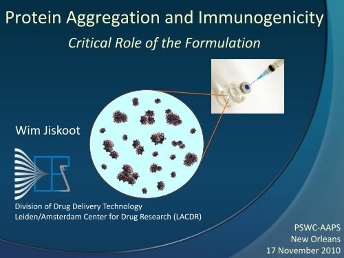 Protein Aggregation and Immunogenicity