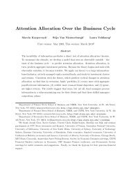 Attention Allocation Over the Business Cycle - Institute of Finance