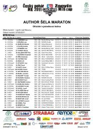 Absolutní výsledky trasa Classic 92 km - Author Šela Marathon