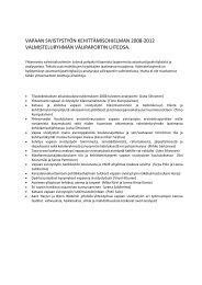 vapaan sivistystyön kehittämisohjelman 2008 ... - Opetusministeriö