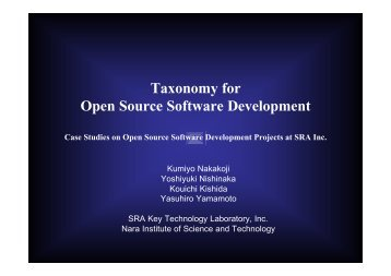 Taxonomy for Open Source Software Development