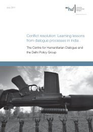 Conflict resolution: Learning lessons from dialogue processes in India