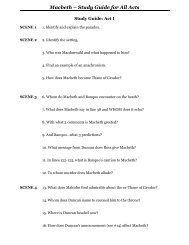 Macbeth – Study Guide for All Acts