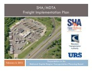 MD SHA/MDTA Freight Study