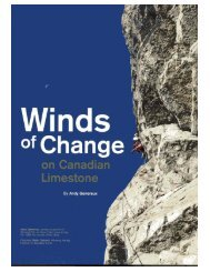 Winds of Change on the Canadian Limestone - Ghost River ...