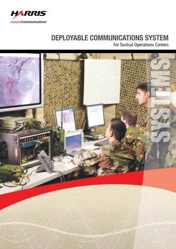 For Tactical Operations Centers - Harris RF Communications ...