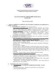 PLAN D'ACTION DU COMITÉ DIRECTEUR CECO ANNÉE 2013