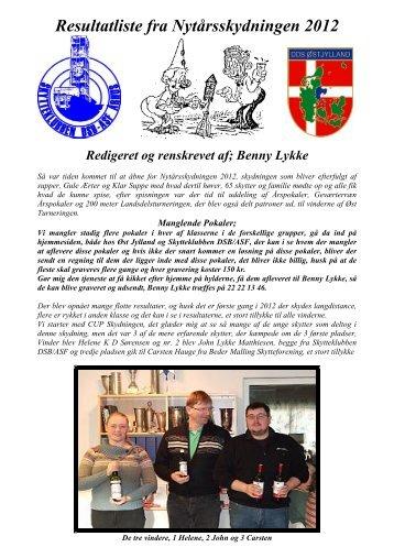 Resultatliste fra Nytårsskydningen 2012 - DDS Østjylland