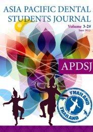 1 Asia Pacific Dental Students Journal | Volume 3| Number 2 - APDSA
