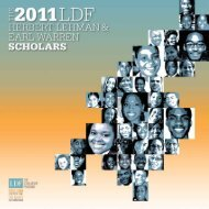 of the 2011 Scholars to - NAACP Legal Defense and Educational ...