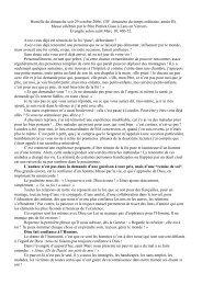 Homélie 2006 10 29 - Paroisse de la Croix de Valchevrière
