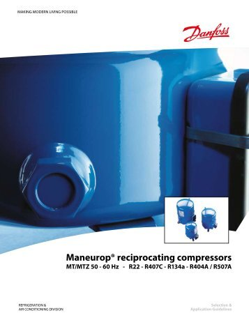 Maneurop® reciprocating compressors