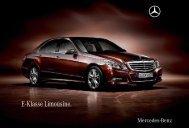E - Klasse Limousine. - Mercedes-Benz Magyarország