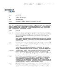 Recurrent Energy Submission - Ontario Power Authority