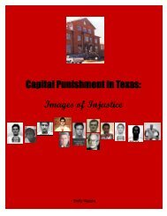 Images of Injustice, 2006 - Texas Coalition to Abolish the Death ...