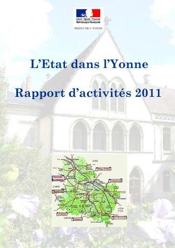 RAPPORT ACTIVITES 2011-2 - Préfecture de l'Yonne