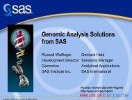 Genomics - sasCommunity.org
