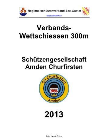 Verbands- Wettschiessen 300m - RSV See-Gaster