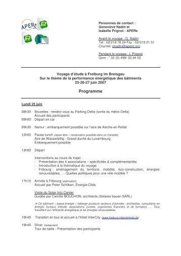 Programme - APERe