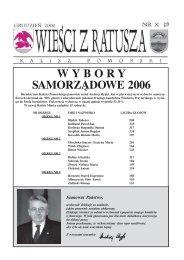2006.12 Wiesci z Ratusza.pdf - MGOK Kalisz Pomorski
