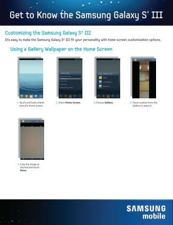 Customizing the Samsung Galaxy S® III Using a ... - US Cellular