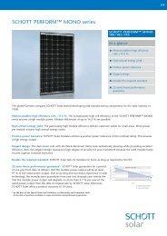 SCHOTT PERFORM MONO 180-190 data sheet EN ... - Solarni paneli
