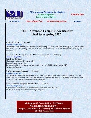 cs302 final term solved papers Download cs302 current & past vu solved midterm & final term papers -  digital logic design digital logic design - cs302 fall 2003 final term paper pdf.