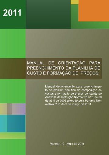 manual de orientação para preenchimento da ... - ComprasNet